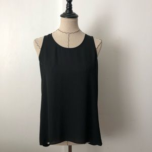 Express black slit back tank top